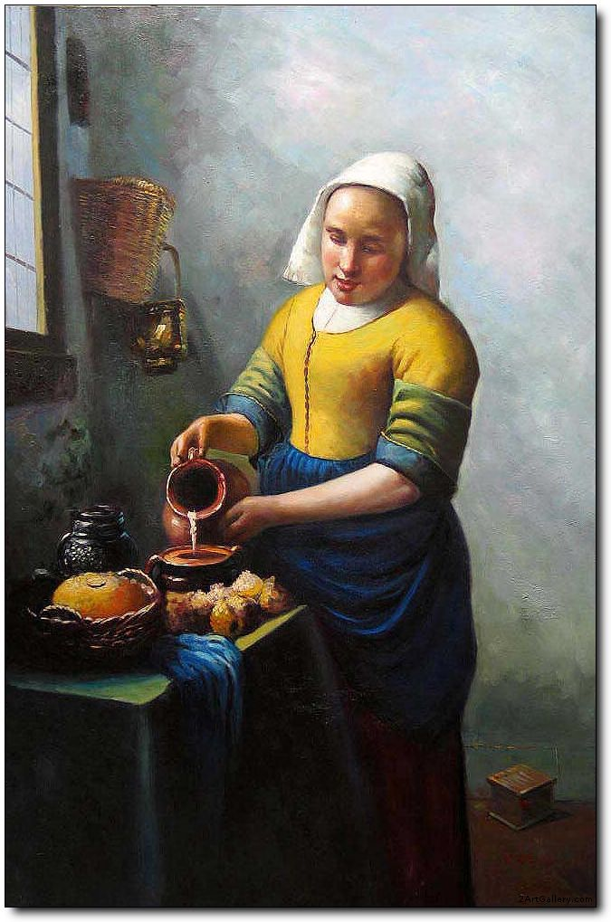 Woman oil painting