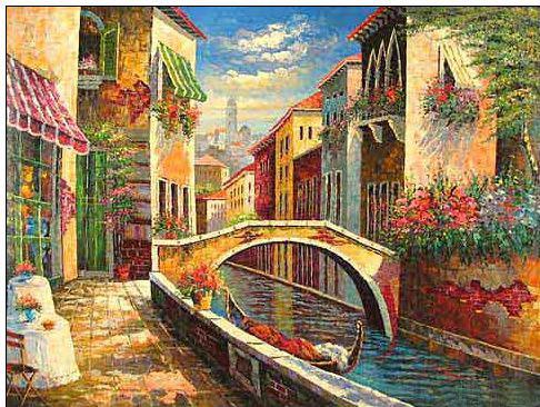 Venice oil painting