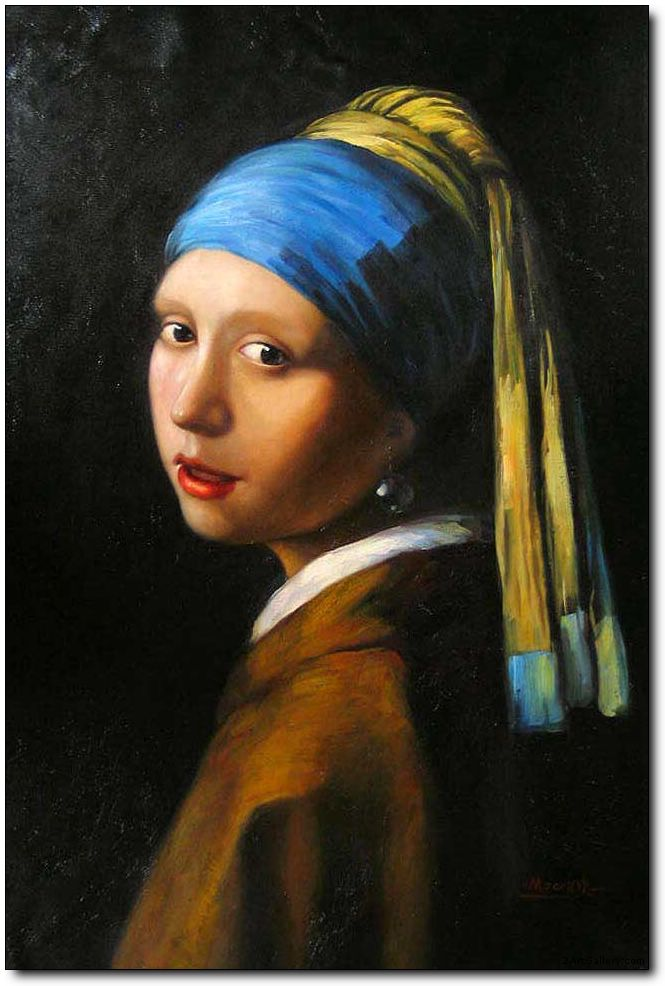 Woman oil painting,Portraits oil painting Girl with a Pearl Earring by