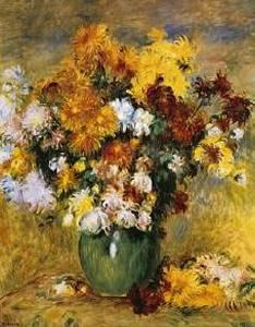 Bouquet De Chrysanthemes Oil Painting