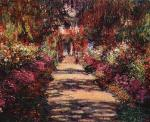 Garden Path at Giverny Claude Monet Oil Painting