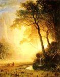 Hetch Hetchy Canyon Albert Bierstadt Oil Painting