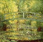 Japanese Footbridge Oil Painting