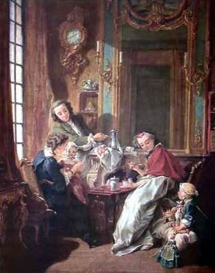 Luncheon Party%2C 1739 Oil Painting