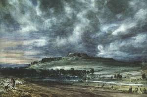 Old Sarum Oil Painting