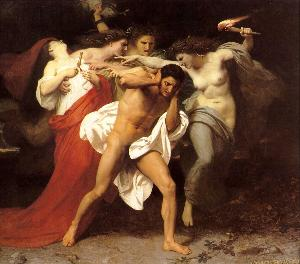 Orestes Pursued by the Furies Adolphe William Bouguereau Oil Painting