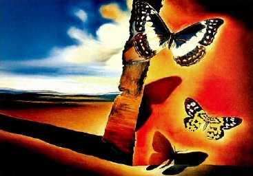 Paysage aux Papillons Oil Painting
