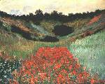 Poppy Field Near Giverny Oil Painting