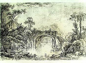 Rustic Bridges Oil Painting