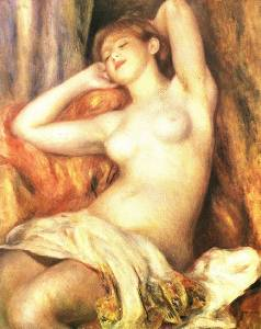 Sleeping Bather Oil Painting