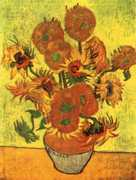 Still Life: Vase with Fourteen Sunflowers Oil Painting