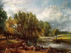 Stratford Mill Oil Painting