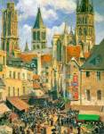 The Old Market at Rouen 30 Oil Painting