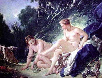 Diana Leaving her Bath%2C 1742 Oil Painting