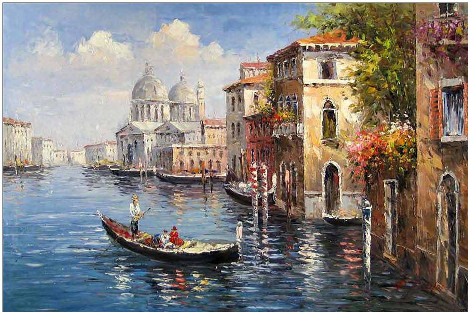 Venice oil painting