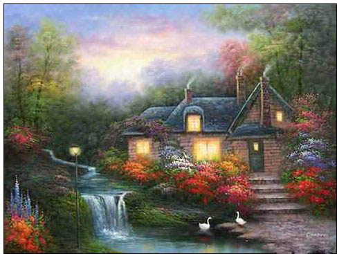 Italy Cottages Landscapes oil painting