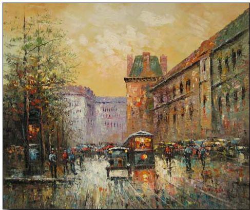 Paris Street oil painting