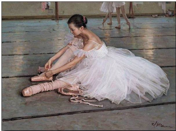 Ballet oil painting,oil paintings on canvas