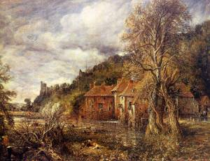 Arundel Mill and Castle Oil Painting