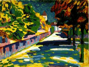 Autumn in Bavaria Wassily Kandinsky Oil Painting