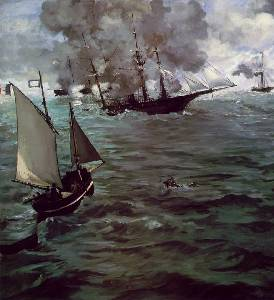 Battle of The Kearsarge And The Alabama Oil Painting