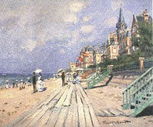 Beach at Trouville Oil Painting
