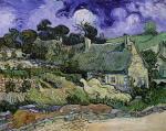 Cottage A Cordeville Vincent van Gogh Oil Painting