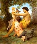 Idyll - Family from Antiquity Oil Painting