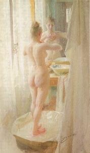 Le tub Anders Zorn Oil Painting
