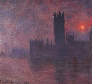 London - Houses of Parliament at Sunset Oil Painting
