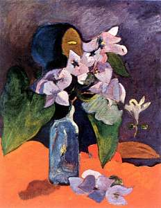 Still Life with Flowers and an Idol Oil Painting