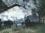 The Arrival of the Normandy Train at Gare Sainte Oil Painting