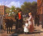 The Flower Seller Jacques Laurent Agasse Oil Painting