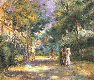 The Garden on Monmartre%2C Undated Oil Painting