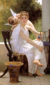 Work Interrupted Adolphe William Bouguereau Oil Painting