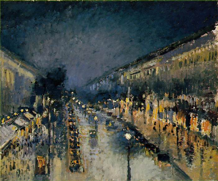 Paris Street oil painting