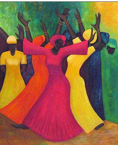 Dance oil painting
