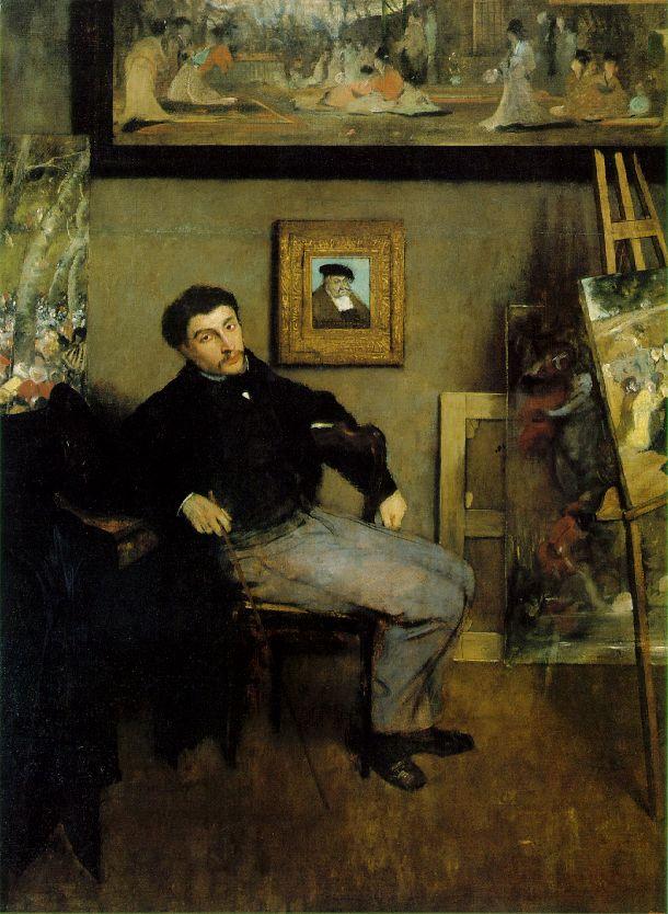 Man oil painting