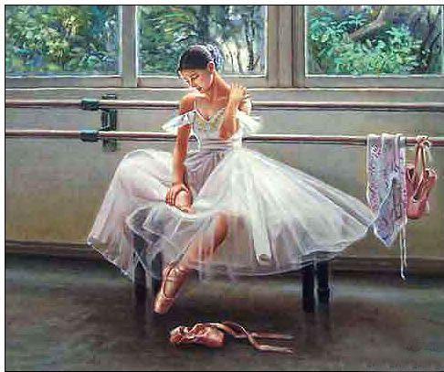 Dance oil painting