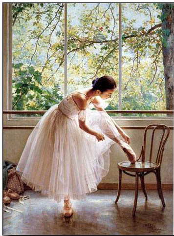 Ballet oil painting,oil paintings from photos
