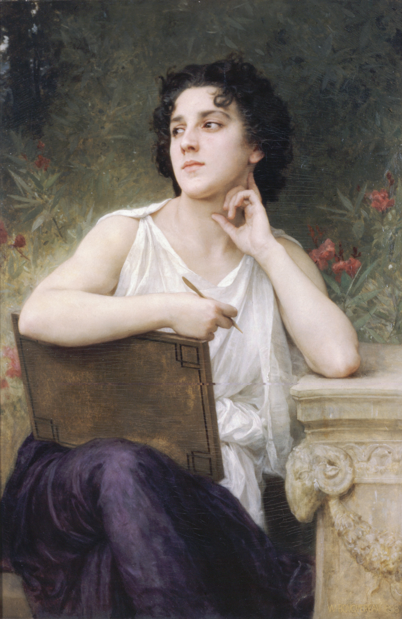 Woman oil painting,Inspiration 1898 By Bouguereau,Oil ...