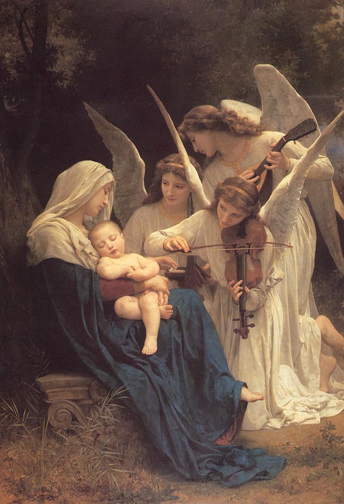Angel oil painting