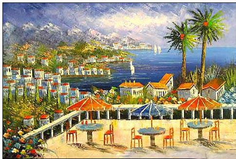 Mediterranean oil painting