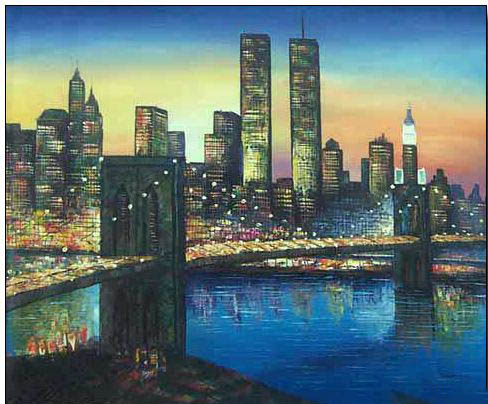 cities oil painting cities oil painting brooklyn bridge