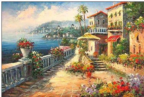 Mediterranean oil painting