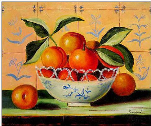 oranges in the bowl
