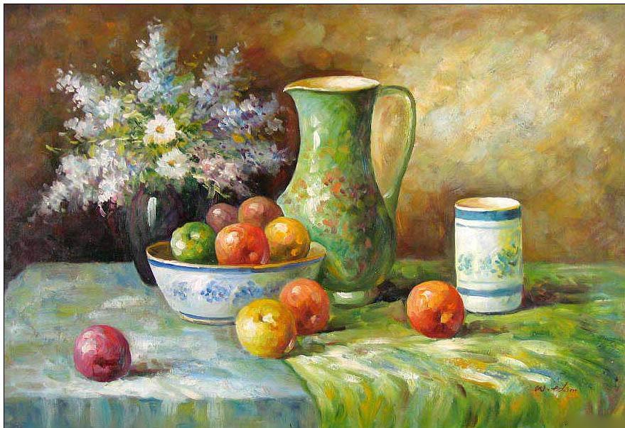 Cuisine oil painting