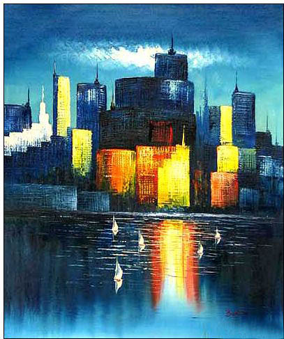 cities oil painting cities oil painting chicago
