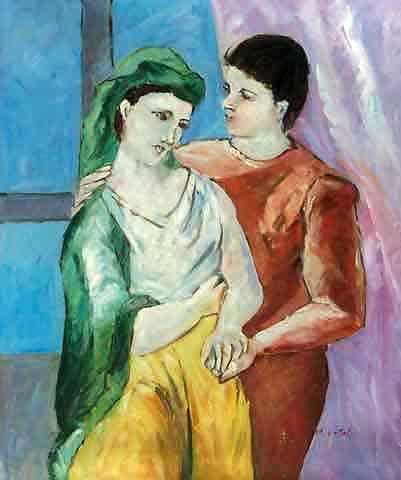 Romantic oil painting