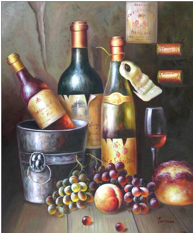 Cuisine oil painting,oil paintings from photos